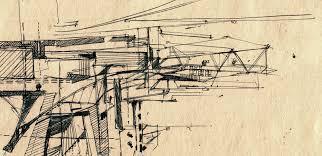 pencil architecture projection sketches apkconcepts