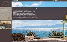 new website for finikas luxury hotel in naxos greece