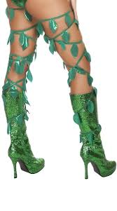 Poison Ivy Halloween Costume Leaf Thigh Wraps Poison Ivy Vines Poison Ivy Halloween Costume