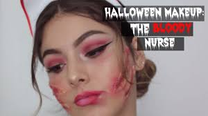 halloween makeup bloody nurse youtube