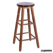 taburete madera taburete bar facolonial t alto madera de pino asiento en madera