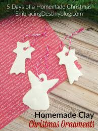 homemade clay diy christmas ornaments embracing