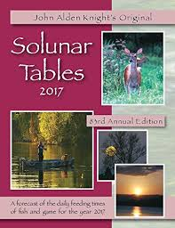 Solunar Tables Fishing 2017 Solunar Tables John Alden Knight U0027s Original Amazon Com Books