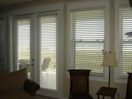 Blind For Windows And Doors Mahogany Wood Blinds On A French Door Wooden Blinds For French