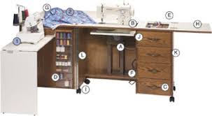 Sewing Cabinet With Lift by Fashion Sewing Cabinets 6900 Premium Oak Sewing Credenza 84x20