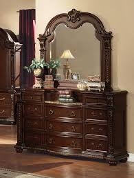 Bedroom Dresser With Mirror Dressers Chests Anondale Marble Top Dresser With Mirror Af