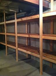 Building Wood Shelves Garage by 25 Best Basement Shelving Ideas On Pinterest Basement Storage