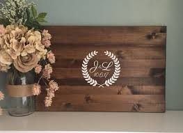 Rustic Wedding Guest Book Rustic Wedding Guest Book Alternative Laurel Wreath Design With