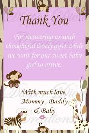 thank you cards baby shower jacana baby shower thank you card