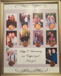 7th wedding anniversary gifts for copper anniversary 7th anniversary gift put a picture for every