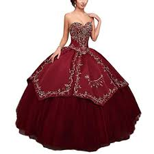 burgundy quince dresses tulbridal sweet 16 embroidery vintage princess gowns