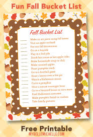 my belle michelle fall bucket list printable