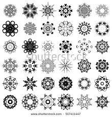 vector set different tribal rosettes tattoo stock vector 521089156