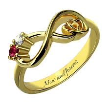 aliexpress promise rings images Wholesale customized heart in heart infinity birthstone ring jpg