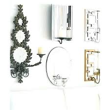 Silver Wall Sconce Candle Holder Mirror Wall Candle Holders Fin Soundlab Club