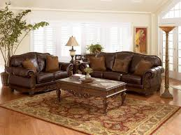 Saddle Brown Leather Sofa Furniture Brown Leather Sofa Living Room Decorating Ideas Living