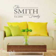 personalised family name wall decals stickers art home decor free