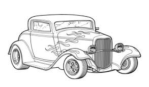 classic rod car coloring page printable transportation