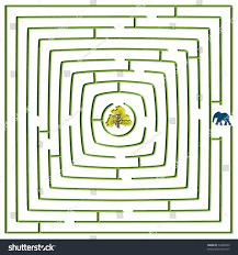 square maze elephant tree abstract stock vector 64909993