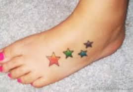 64 phenomenal star tattoos on foot