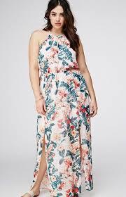 floral maxi dress plus size pluslook eu collection