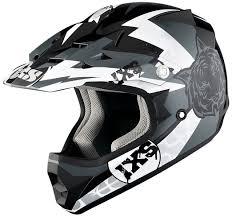new motocross helmets ixs hx 278 tiger junior black silver white motorcycle helmets