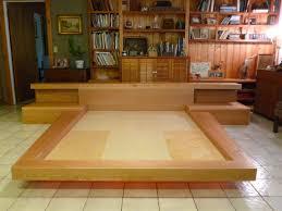 King Size Bed Platform Wood Platform King Size Frame With Japanese Style Home
