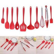 ustensile de cuisine silicone 10 ensembles poêle antiadhésive silicone d ustensiles de cuisine