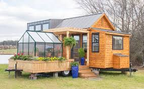 tiny house pictures two part tiny house comes with its own mobile porch greenhouse