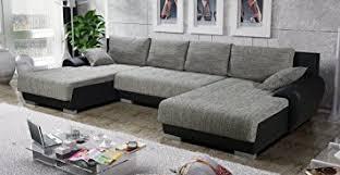 canapé d angle en u canapé d angle en u convertible teren gris et noir tendance amazon