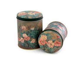 sunflower canister sets kitchen vintage tin canister etsy