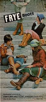 s yard boots sale an assortment of early 1970s boots clockwise from left crinkle
