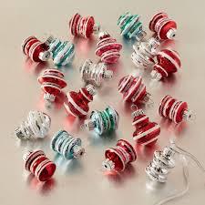 shiny brite retro mini ornaments set of 20 west elm au