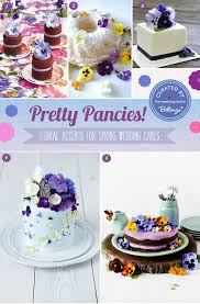 pansies strike up lovely spring wedding cakes packed with