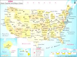 united states major cities map united states major cities and capital cities map blank map of