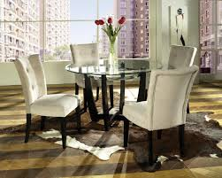 dining room glass table sets furniture chic parsons chairs for dining room furniture ideas