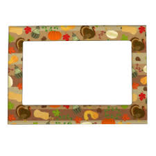 thanksgiving magnetic picture frames zazzle