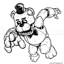 nights freddys fnaf coloring pages free download printable