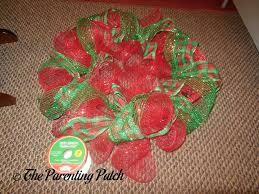 deco mesh ribbon deco mesh ribbon and mesh christmas wreath craft parenting