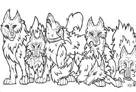 wolf pack coloring pages many interesting cliparts