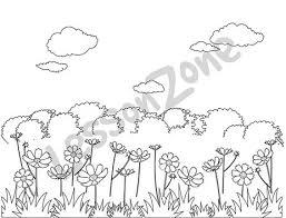 garden clip art black and white