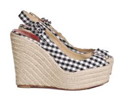 revival boutique black gingham canvas u0027menorca u0027 espadrilles