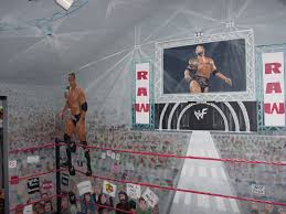 wwe wrestling wall murals wall design wwe wrestling wall muralsmy childhood wrestling bedroom a one of a kind room spanning