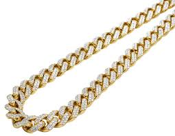 gold with diamond necklace images Mens 10k yellow gold miami cuban chocker big lock diamond necklace jpg