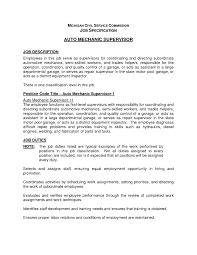 Example Of Resume With Job Description by Stylish Mechanic Job Description Resume Resume Format Web