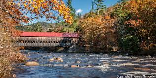 hampshire white mountains covered bridge fall foliage