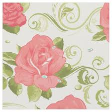 shabby floral fabric zazzle