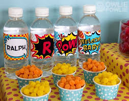 batman baby shower decorations kara s party ideas supergirl superboy baby shower via