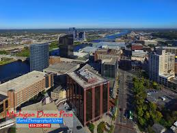 photographers in grand rapids mi downtown grand rapids aerial drone photography