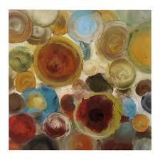 watercolor circles canvas art print kirklands shannon